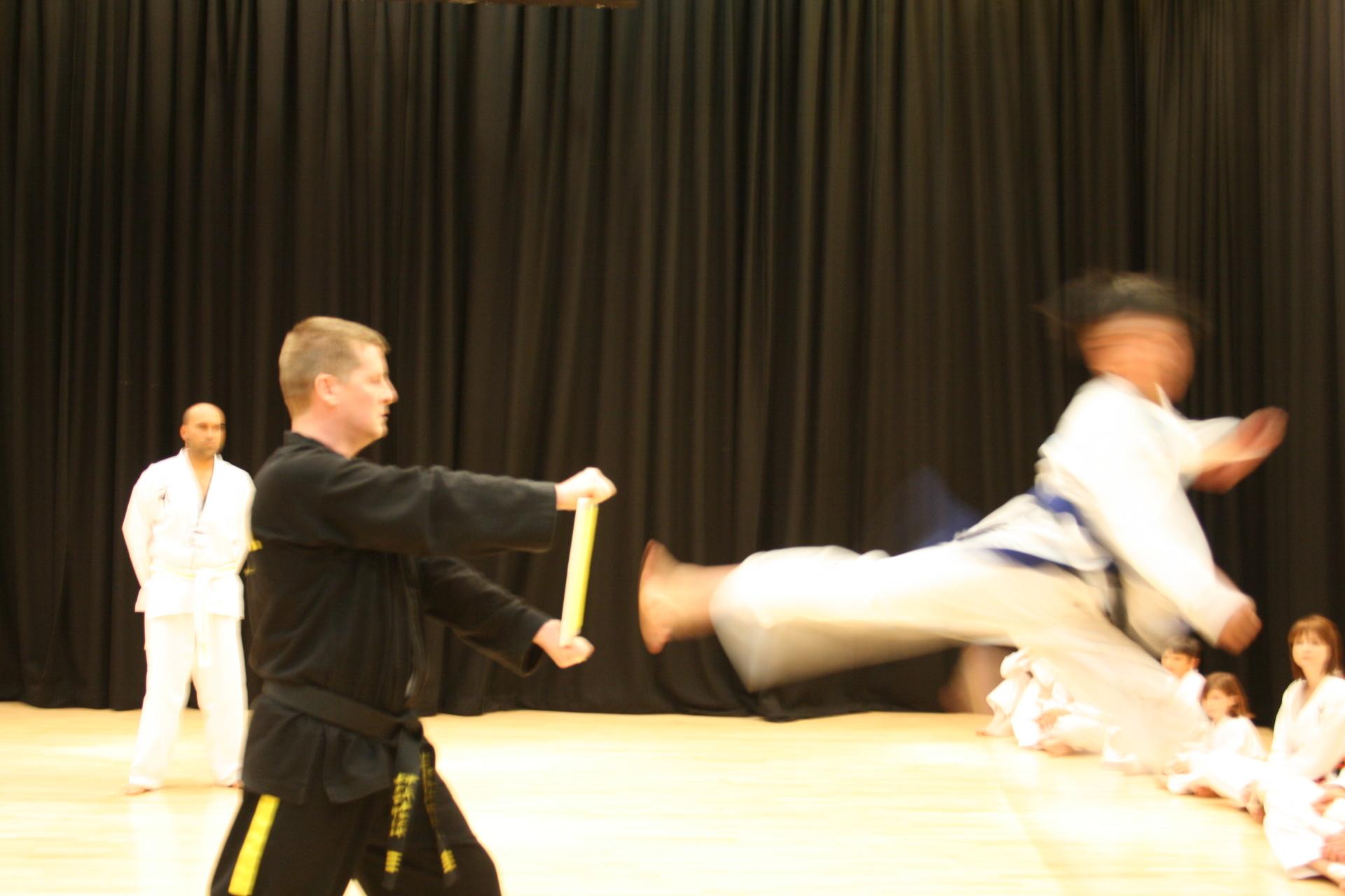 Student Jump Side Kick