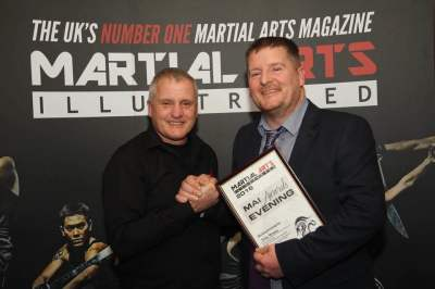 2 0 1 6 Martial art hall of fame awards evening where John McNally got his award