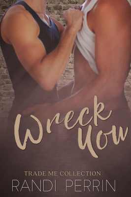 two men together, one fisting the other's shirt on the cover of wreck you