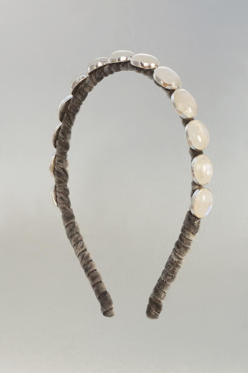 Rainbow Moonstone Headband