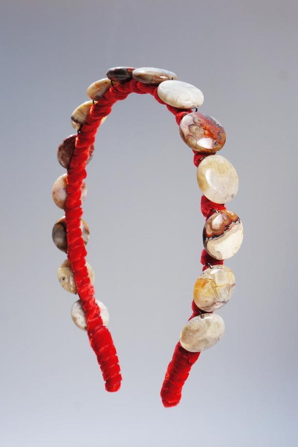 Laguna Lace Agate Headband & Red Velvet