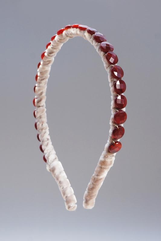 Carnelian Headband & Taupe