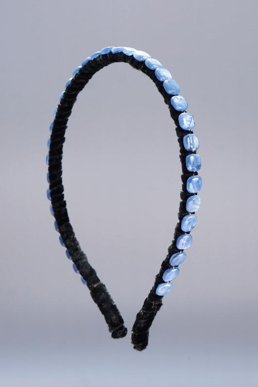 Kyanite Squares Headband & Black Velvet