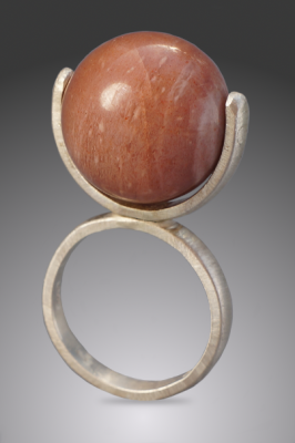 Peach Moonstone Statement Ring