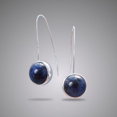 Sodalite Blue Moon Earrings