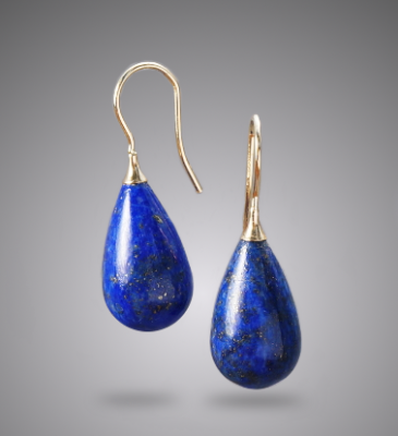 Lapis & 14k Gold Earrings