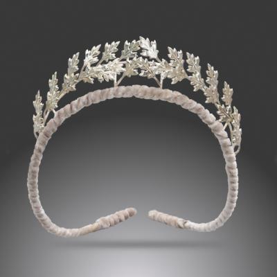 Sterling Silver Oak Leaf Tiara