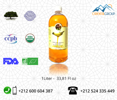 ORGANIC VIRGIN AND TOASTED ARGAN OIL - Culinary Argan Oil
