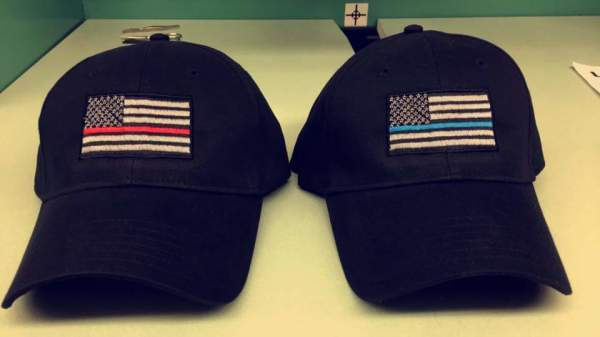 Thin Blue Line and Thin Red Line hats