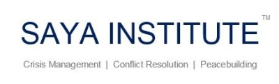 Saya Institute, Crisis Management, Conflict Resolution, Peacebuilding