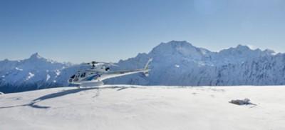 库克山雪上飞机和直升机空中观光