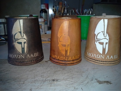 Leather Beer mugs