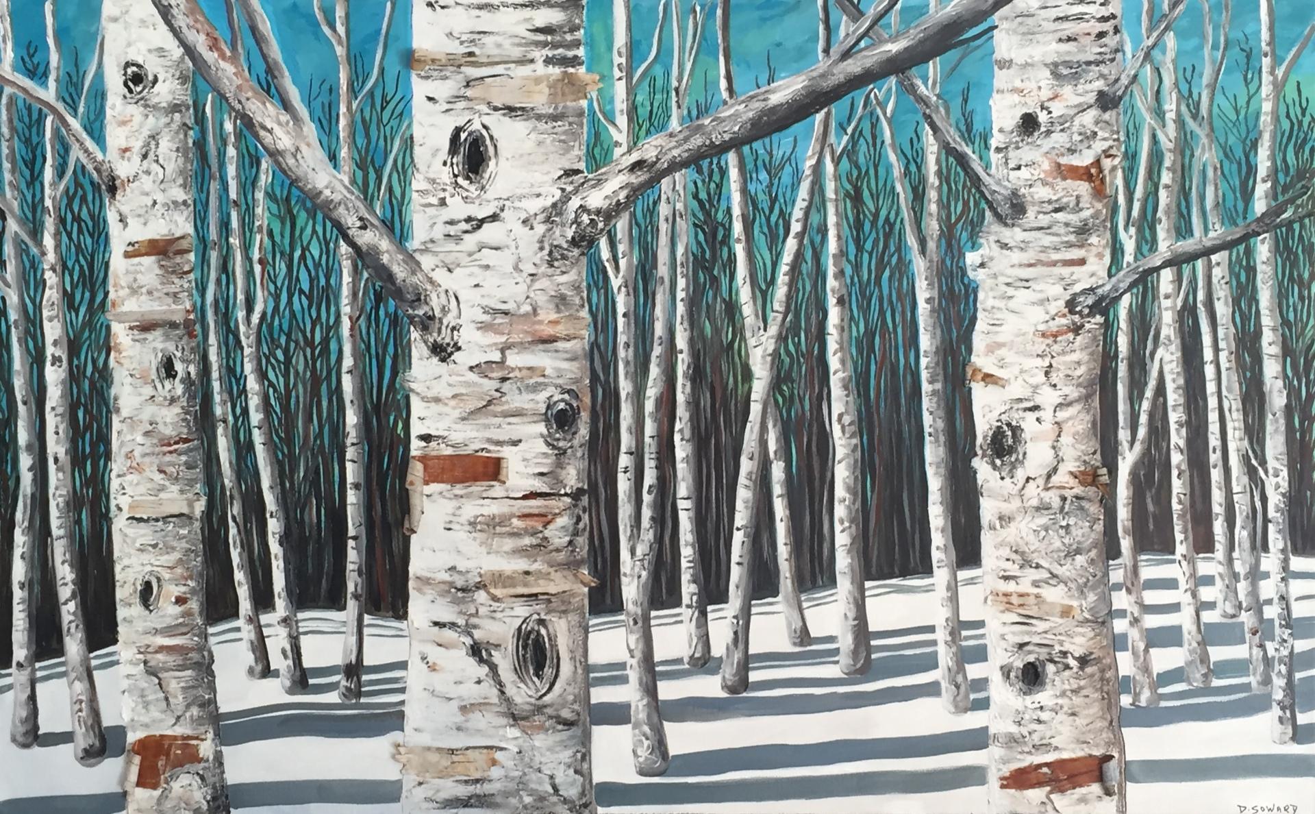 Aqua & Birch (30 x 48)