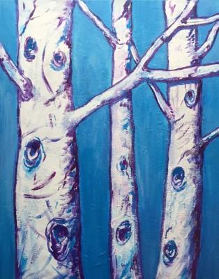 Triple Birch (24 x 30)