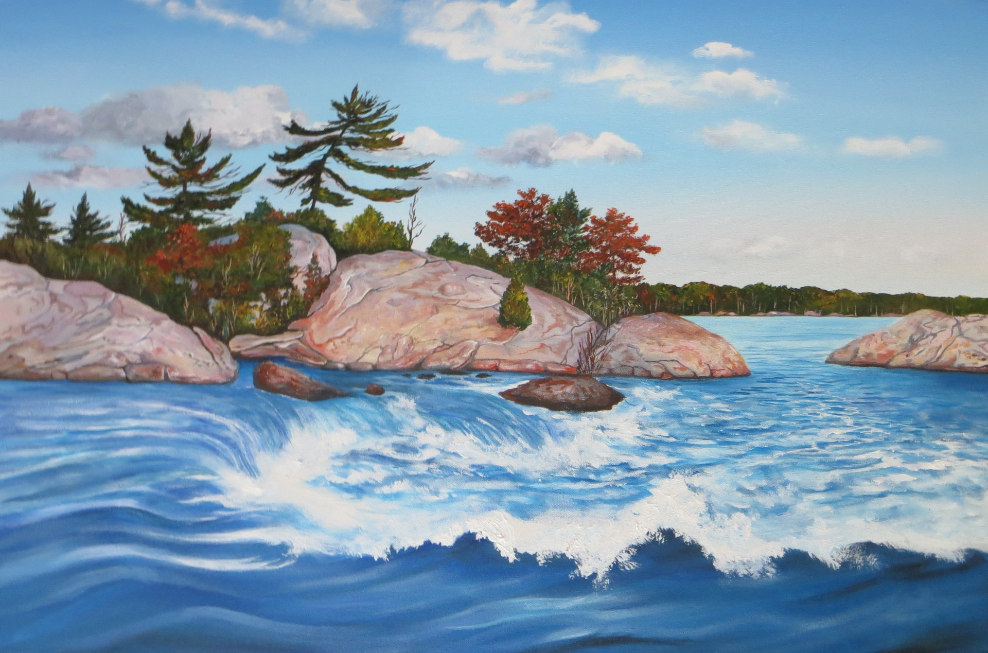 Burleigh Falls (24 x 36)