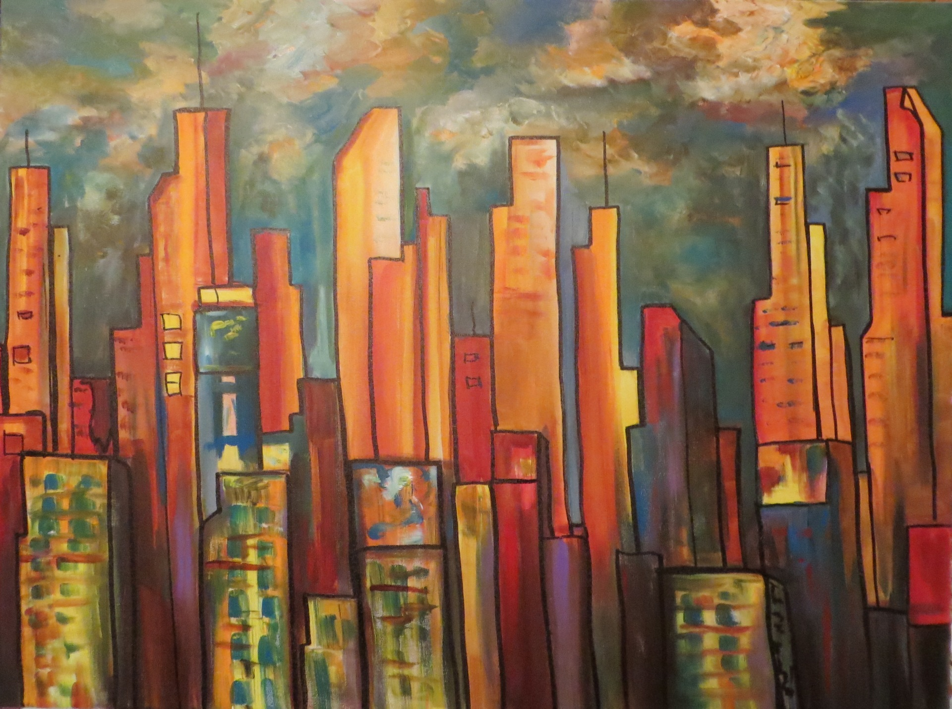 Skyscrapers (30 x 40)