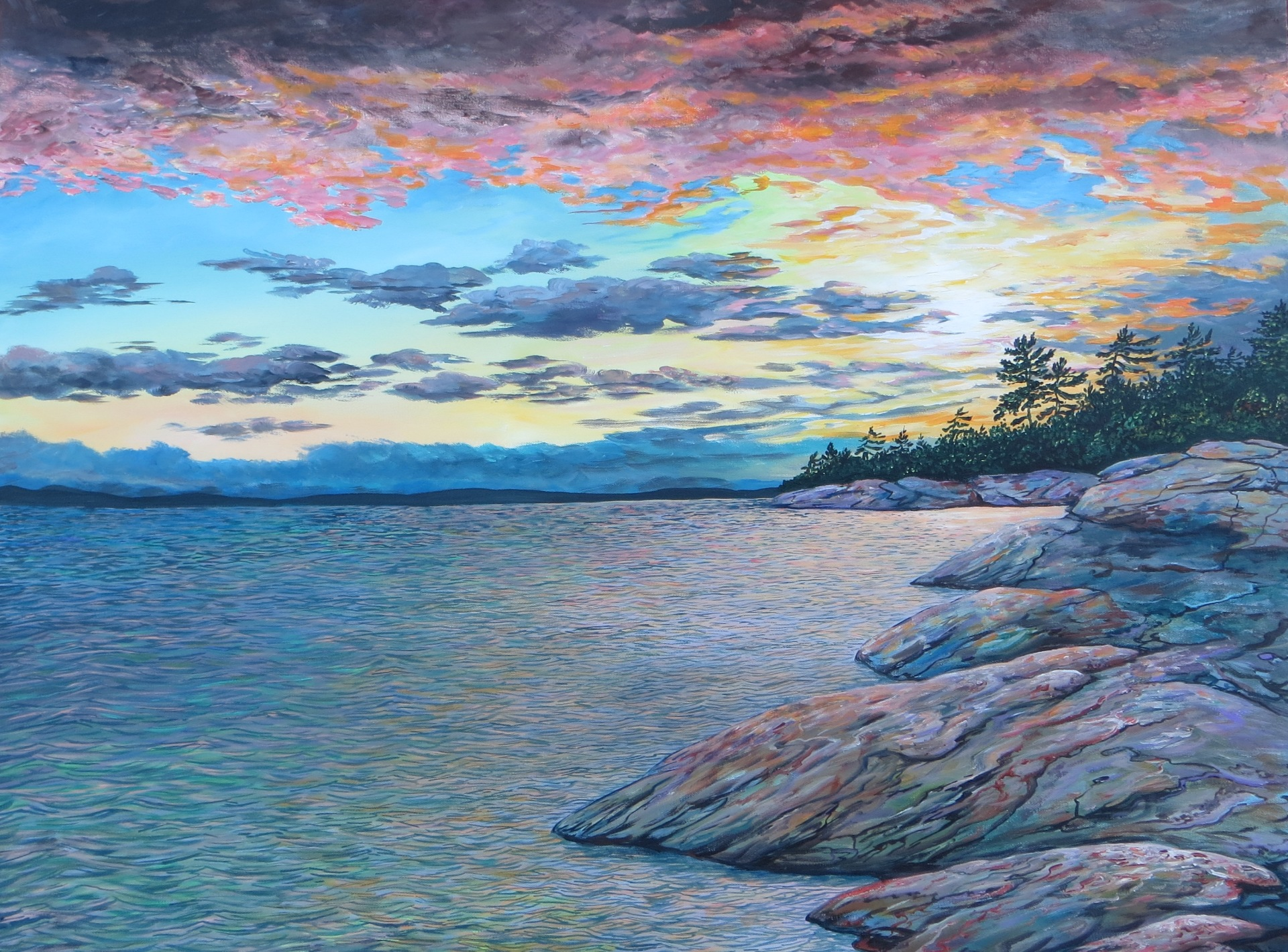 Georgian Bay Sunset (30 x 40)