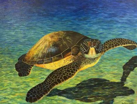 Sea Turtle (18 x 24)