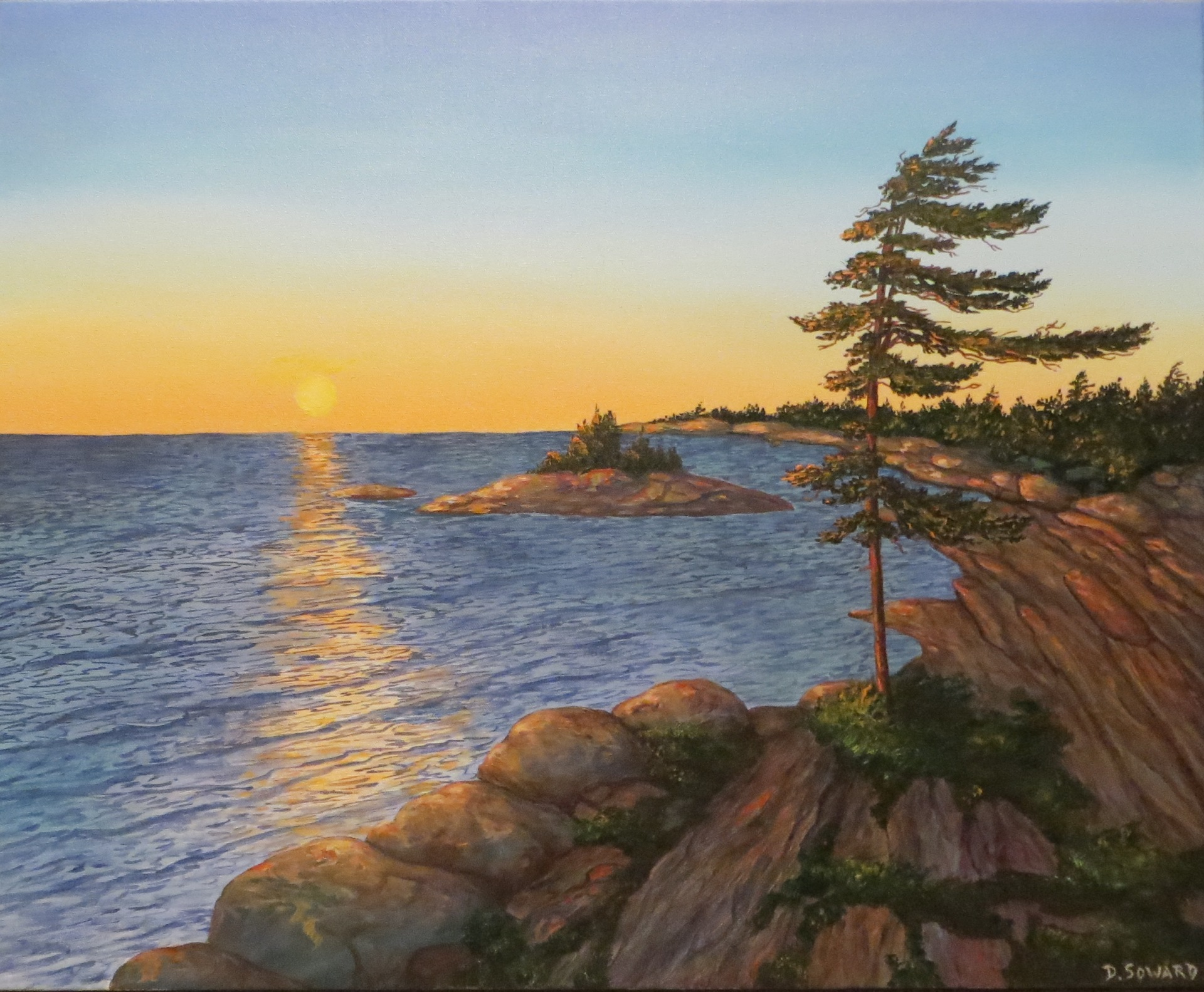 Georgian Bay Sunset 2 (24 x 30)