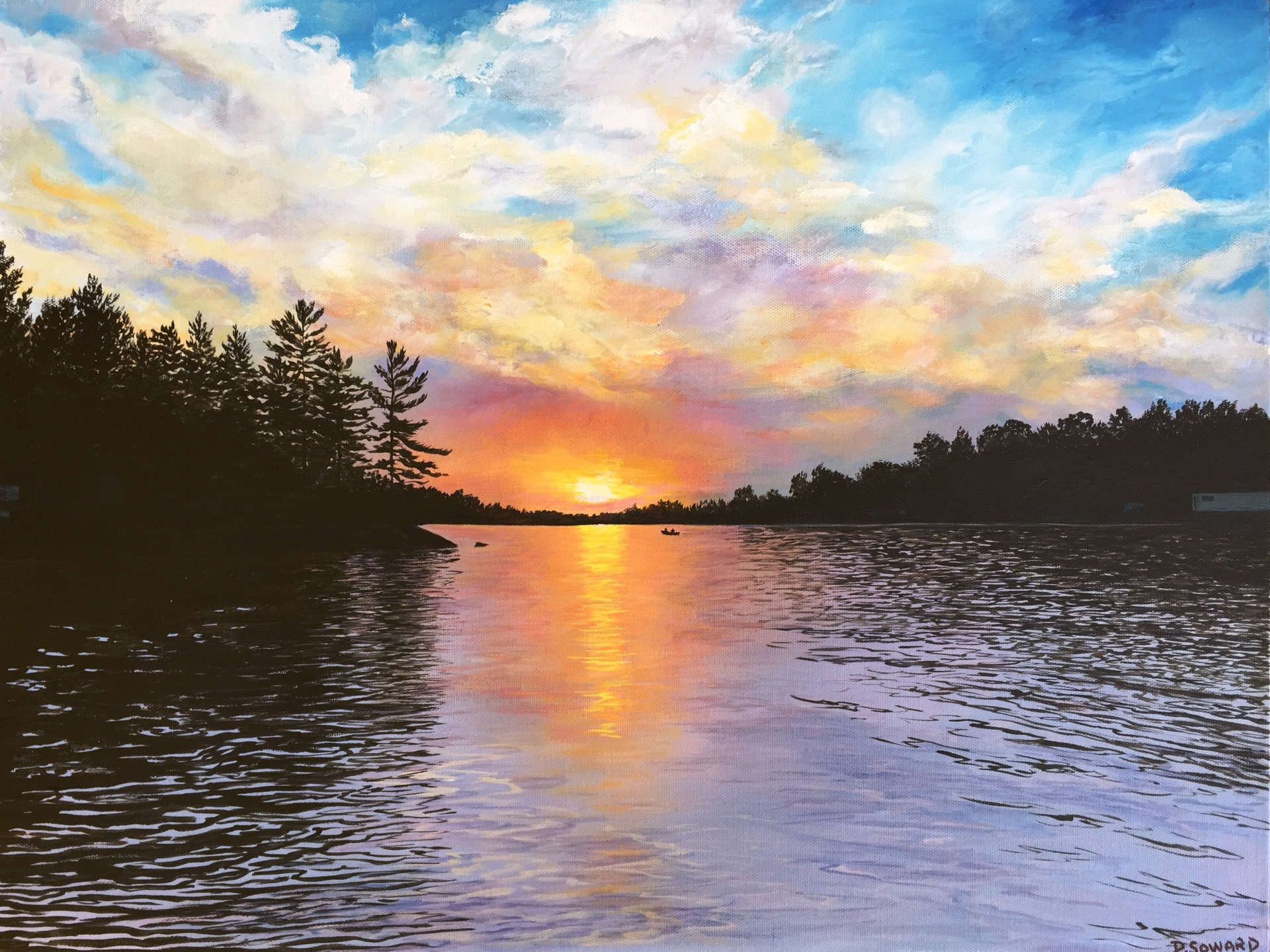 Nippissing Sunset (18 x 24)
