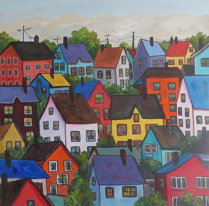 Colourful Houses (36 x 36)