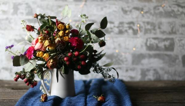 Partially Dried Flower Arrangement