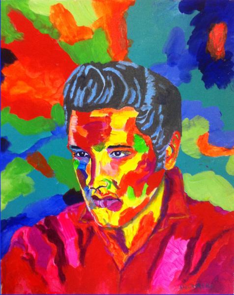 Elvis Presley, Elvis, portrait painting, portrait of Elvis