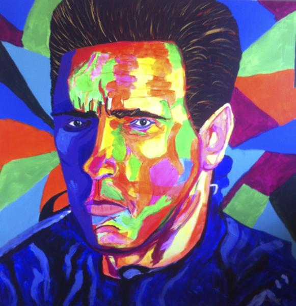 Portrait of Arnold Schwartzenegger