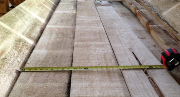 Rough saw lumber, air dried, ready to sell