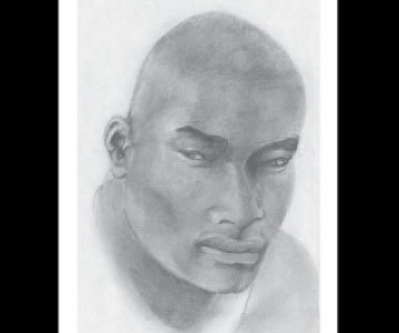 Tyson Beckford, pencil drawing