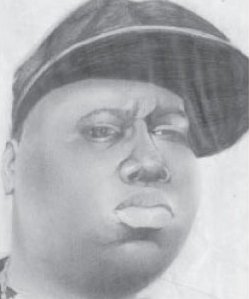 Notorious B.I.G., pencil drawing