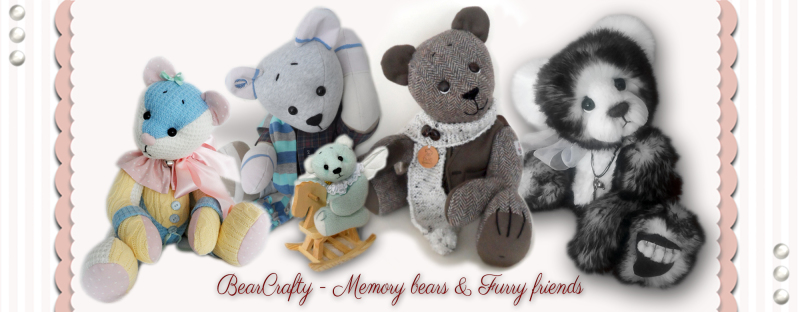Memory bear made from a cardigan