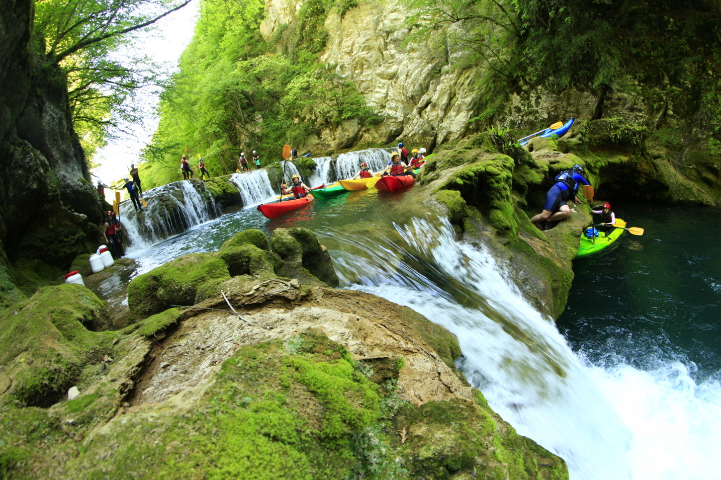 Join us on a kayaking trip down the mreznica river canyon
