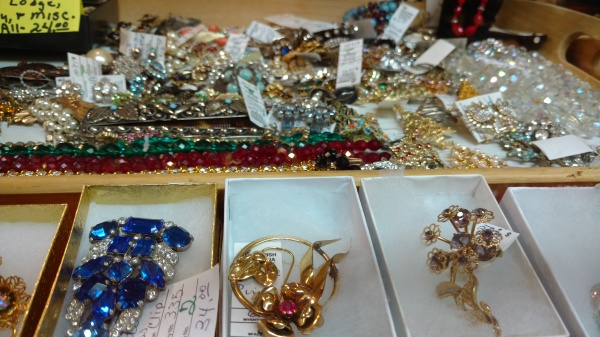 Space 2 has hundreds of beautiful vintage jewelry pieces.