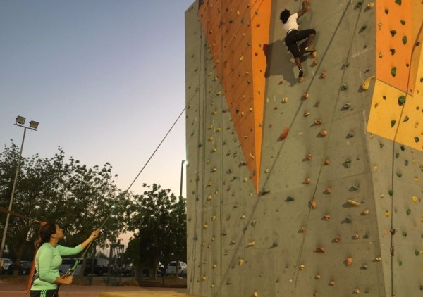 wall climbing dorell sports al ain