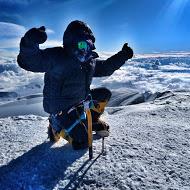 Hanady Alhashmi on the summit of Denali