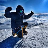 Hanady Alhashmi on the summit of Denali