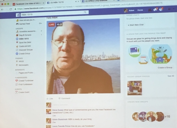 INBA Demonstrates Facebook Live for News Coverage