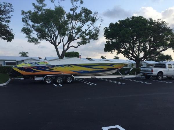 National Trailer -  Fountian Boat - Aluminum Boat Trailer -  Custom Trailer  - Heavy Duty - High Performance - Aluminum Boat Trailers
