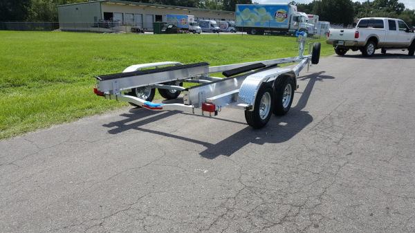 National Trailer - Custom Aluminum Boat Trailer Tandem Axle- High Performance - Aluminum Boat Trailers