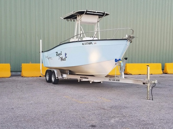 National Trailer -  Cape Horn Boat - Center Console  Tee Top - Aluminum Boat Trailer -  Custom Trailer - Heavy Duty - High Performance - Aluminum Boat Trailers