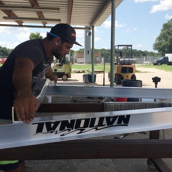 National Trailer -  Aluminum Boat Trailer -  Custom Trailer