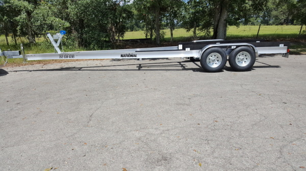 National Trailer - Custom Aluminum Boat Trailer Tandem Axle- High Performance - Aluminum Boat Trailers