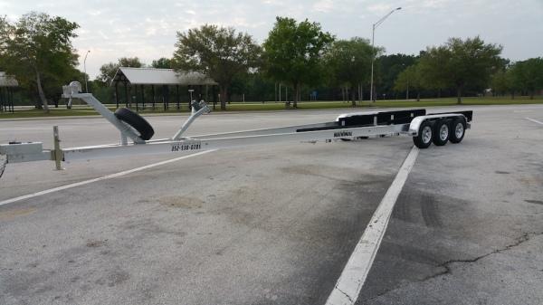 National Trailer - Custom Aluminum Boat Trailer Tri Axle - High Performance  - Aluminum Boat Trailers