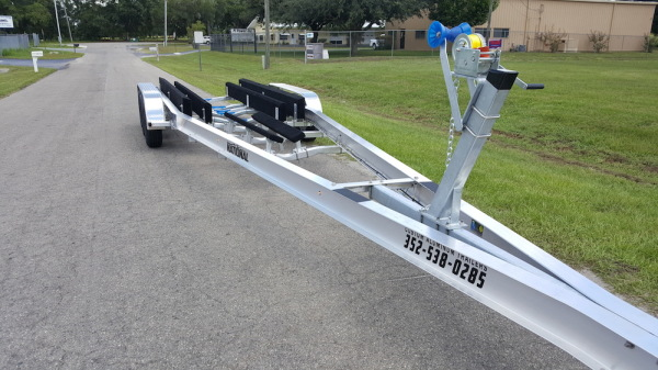 National Trailer - Custom Aluminum Boat Trailer Tri Axle with Double Bunk - High Performance - Aluminum Boat Trailers