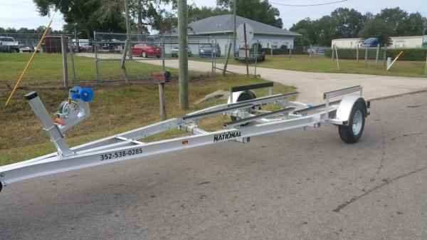National Trailer - Custom Aluminum Boat Trailer Single Axle - Aluminum Flat Bunk - Flats Boat - Carolina Skiff - Bass Boat -  - Aluminum Boat Trailers