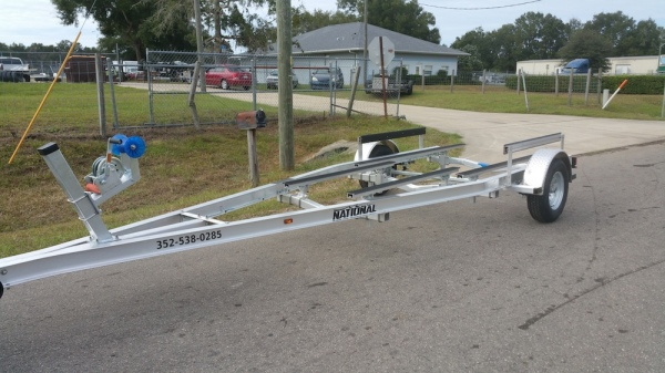 National Trailer - Custom Aluminum Boat Trailer Single Axle - Aluminum Flat Bunk - Flats Boat - Carolina Skiff - Bass Boat -  - Aluminum Boat Trailers