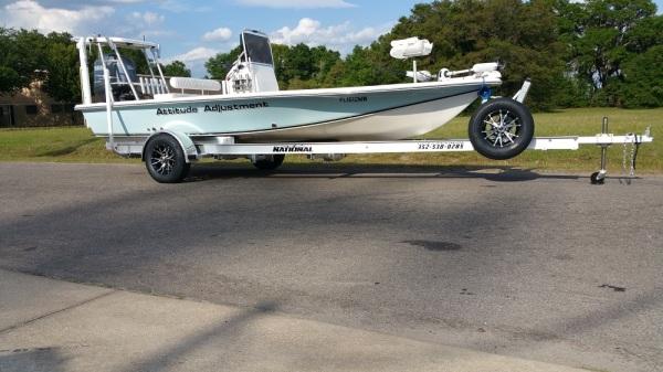 National Trailer -  Aluminum Boat Trailer -  Custom Trailer Flats Boat - Flats Fishing - Inshore Fishing - High Performance - Aluminum Boat Trailers