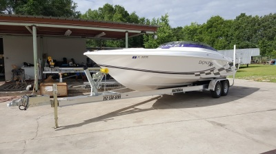 National Trailer -  Donzi Boat - Aluminum Boat Trailer -  Custom Trailer  - Heavy Duty - High Performance - Aluminum Boat Trailers