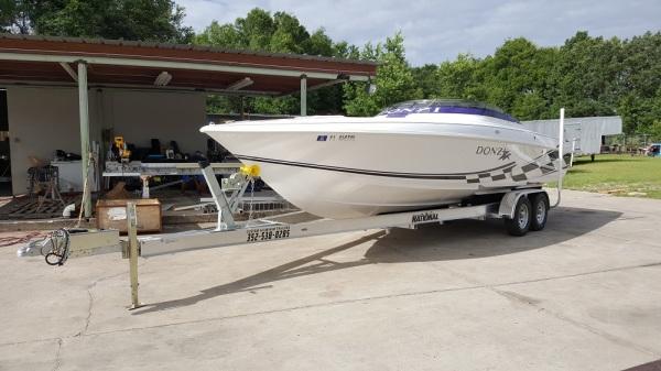 National Trailer -  Donzi Boat - Aluminum Boat Trailer -  Custom Trailer  - Heavy Duty - High Performance - Aluminum Boat Trailers